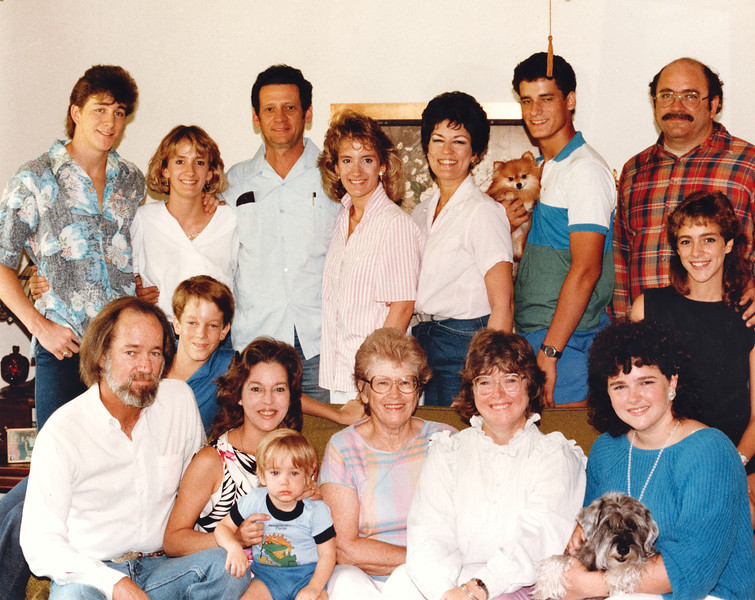My Beautiful Family! 1986 I Love this group of folks