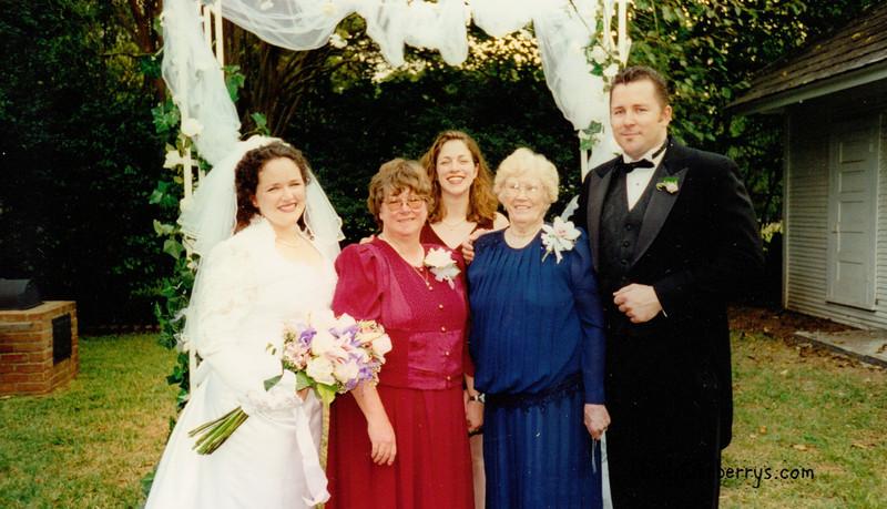 Judy and Kelly's wedding- Judy Mom, Keli, Granny, Taylor
