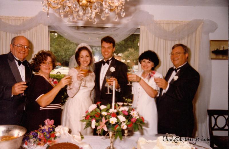 Keli and Chad's Wedding- Joyce, Kenny, Keli, Chad, Peggy and Pops