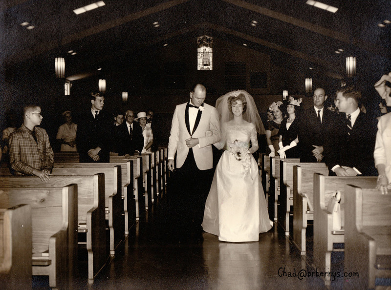 Joyce and Kenny Wedding-NT walks Joyce down the isle