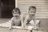 Joyce and Joyce on porch matt