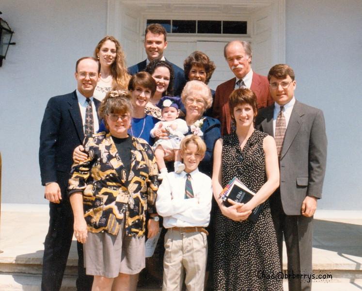 Miranda's Baptism-Winnie James Lorrie Mark Mike Joyce Judy Keli Chad Royce Sherry