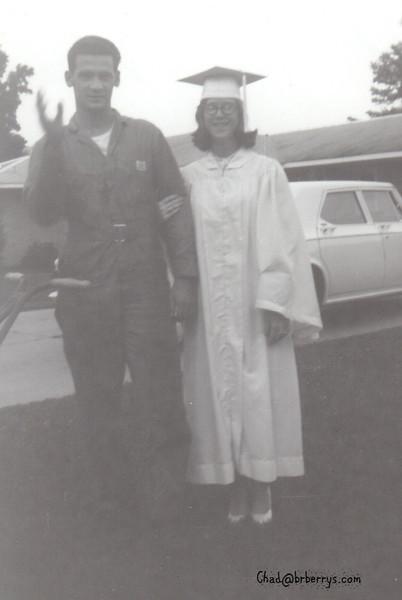 Graduation of Joyce-with Henry 1964