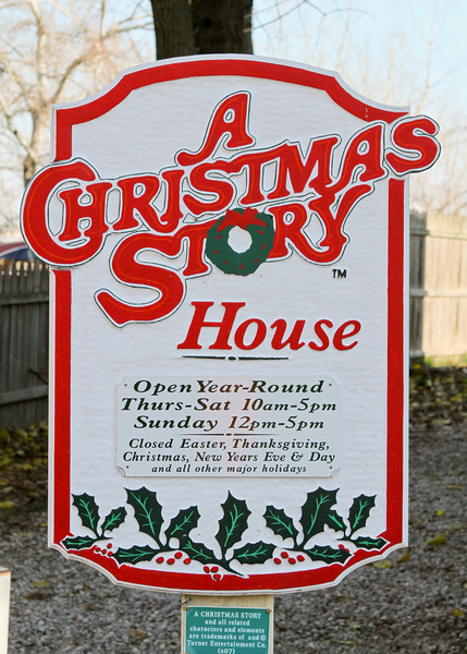 Entrance to A Christmas Story house, Cleveland, Ohio.