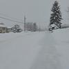 A snowy street scene.....
