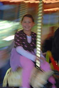 Goin' for a ride on the Bug Carousel