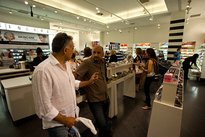Another shopping stop.  Maha in the background while we admire the marketing juggernaut of Sephora.