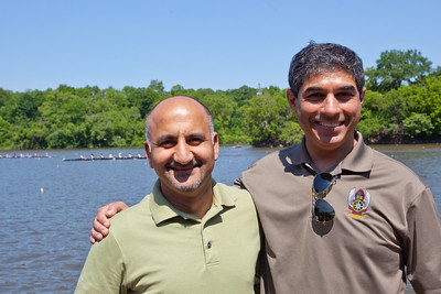 Saad and I at the Stotesbury Cup Regatta.  Anisa had just finished her Freshman 8 race.