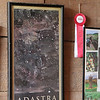 Art work framed of one of the Adastra wine labels.