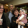 Friends from Guelph, Ontario (Center) Paul Benedetto and Karen Kurtz (holding Ruth Grace) traveled to Auburn, Indiana to remember Sarah's mother, Anna Ruth Haynes.