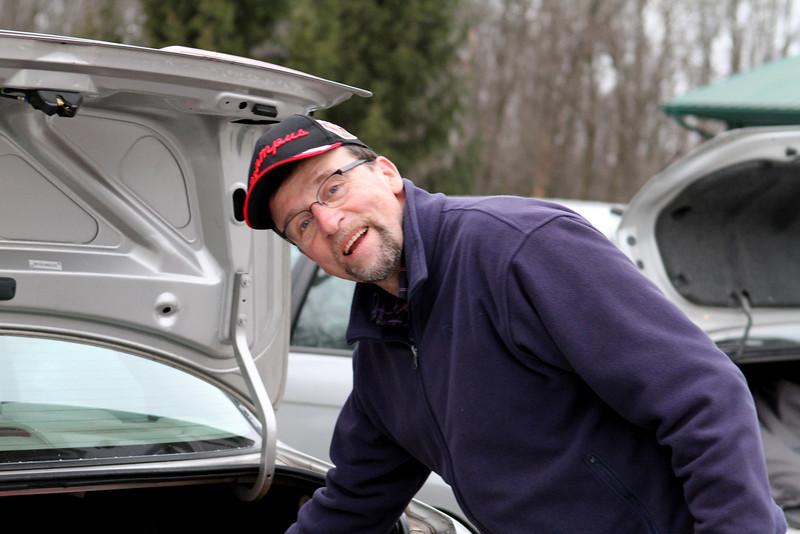 Glenn Sweitzer packing his Hondo Accord.