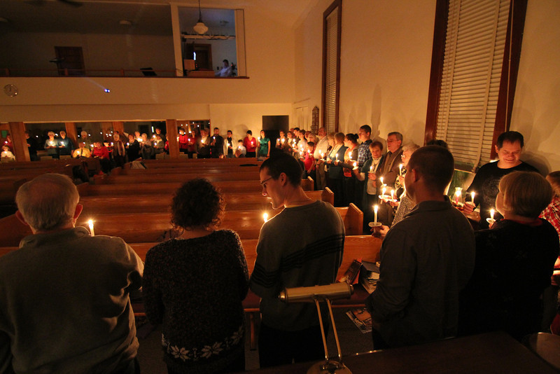 """On Christmas Eve, December 24th, we attended the Cedar Lake Church of the Brethren annual Christmas Eve Program including a circle of candlelight at closing.  See the Christmas Eve Service album, under Religion for more details. <a href=""""http://www.kentsweitzerphotography.com/Religion/Cedar-Lake-COB-Christmas/27335382_nMnc2G"""">http://www.kentsweitzerphotography.com/Religion/Cedar-Lake-COB-Christmas/27335382_nMnc2G</a>"""
