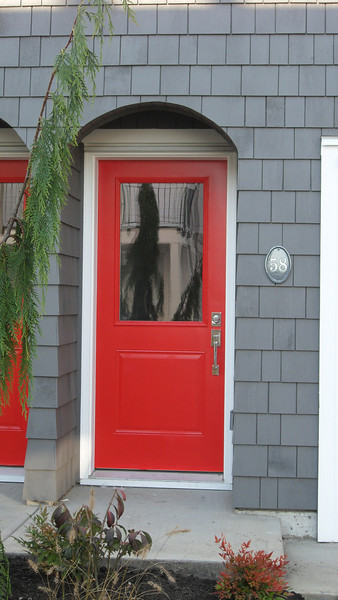The famous 'red door' at # 58.