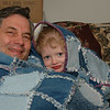 Rob & Katie are all wrapped up in love. Each one has a denim quilt especially hand-made for them by Sandy.