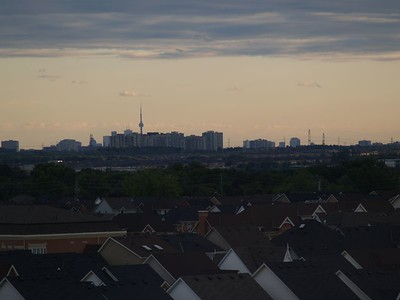 Toronto's CN Tower on the horizon