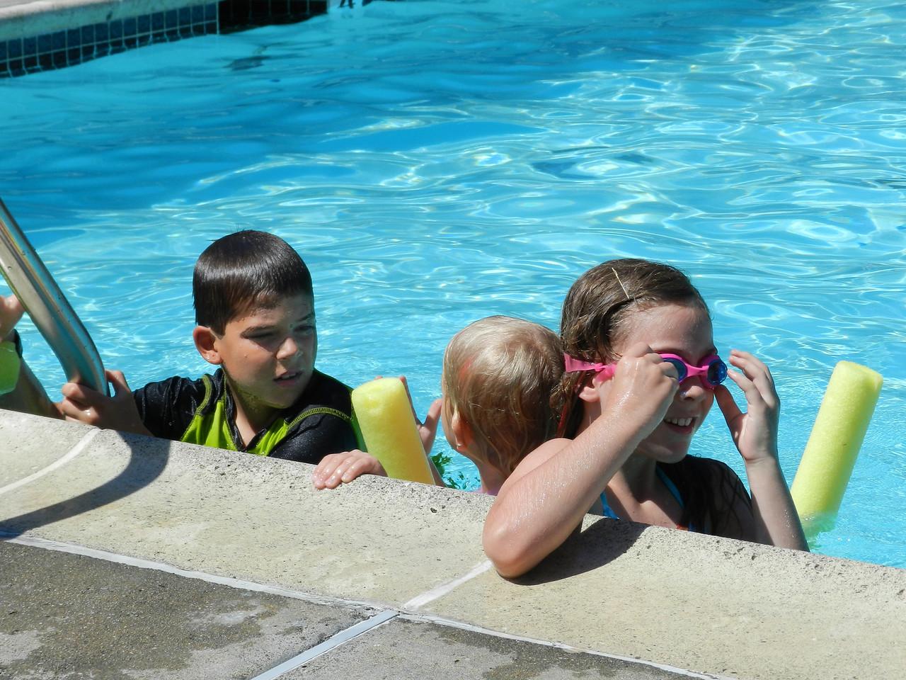 at the neighborhood pool