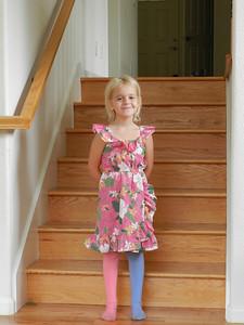 Allegra dressed up for a school visit