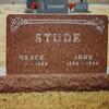 Stude, John and Grace Jones tombstone<br /> Copeland, KS ?
