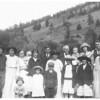 """July 4, 1923 in Colorado<br /> L to R, Front Row: 1. Charles Stillings 2. Margaret Jones  3. Clarence Jones, Jr.  4. Mildred Jones 5. Claire Jones  6. Stella Jones (first wife of Warren)<br />  Back Row:   7. Russell Jones  8. Florence Jones                         <br /> 9. Blanche Stillings  10. (baby)  Lois Stillings 11.  Helen Jones 12. Clarence Jones, Sr.  13. (woman in front of Clarence) Edna Jones 14. """"Phay Jones, brother of Friend 15. (baby)  Weldon Jones 16. Viola Jones  17. Warren Jones.  <br />  Children of Phay & Florence Jones - Helen, Claire, Viola, & Weldon"""