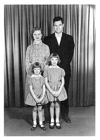 John & family - 1954<br /> Joyce Ann, Carol Jean
