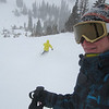 YESSSS!!!!! It's snowing!! Paul with Niel in the new (!!) yellow jacket !!