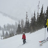 Niel and Bethany (red jacket) getting their first taste of Utah powder!