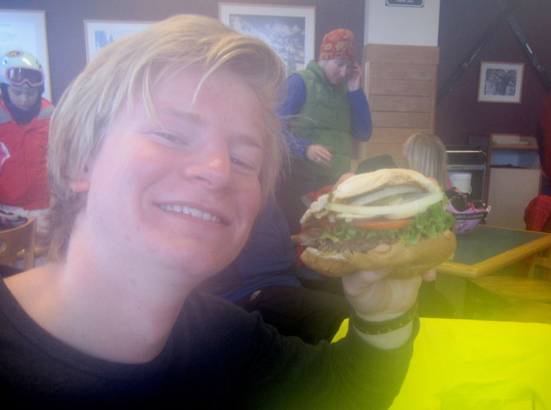 Ahhh yes - another hamburger for Paul!!