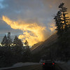 Awesome sunset on the way home from Alta!