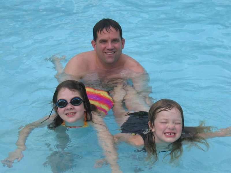 Daddy with his little girls.