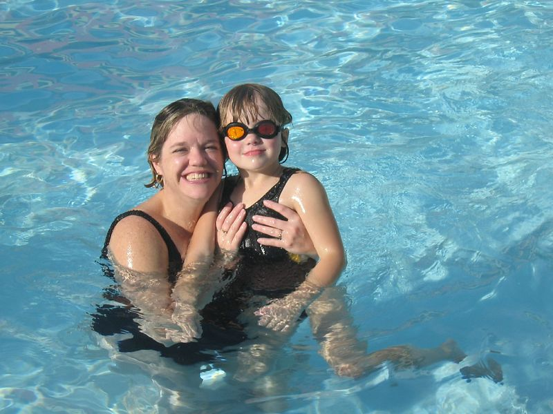 Aunt Lynne and McKenna.