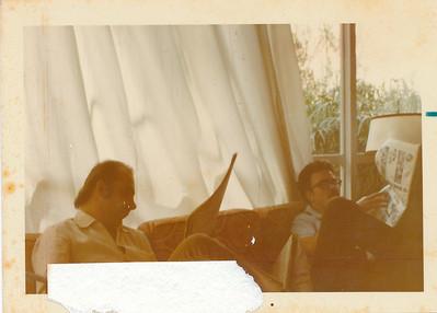 Renato Lenci e Reynaldo na casa rua Suecia