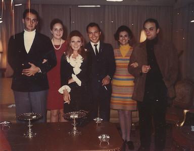 1960s - Gabriel, Ana Maria, Santuza e Roberto Goncalves, Meca e Amedeu Papa