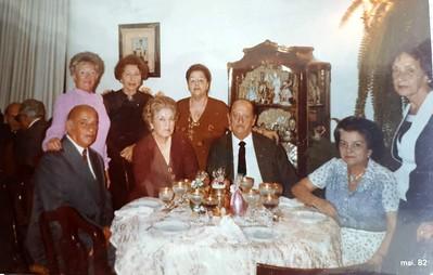 jantar na casa tia Amelia, May 1982