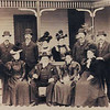 Thanks to Christi, who on March 16 2007 shared this scanned image from original photograph of  Flato Wedding Anniversary. We have since lost track of Christi, but thanks also to Christi's Mother, who had retained the original photo of Christi's great grandfather who  is on the far right.  In the back row of this posed photo Sophia Flato Amsler is the fourth person standing from left to right as Harry Flato moved to third person standing from left to right.
