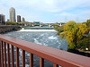 St Anthony Falls, Mpls, and 3rd Ave Bridge over Mississippi River