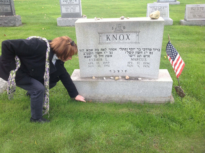 Jenny at Knox graves in Youngstown, OH