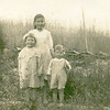 Sneed, Adine & Evelyn 1917 on the Adams Farm in Penhook, VA