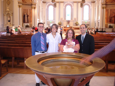 The Baptismal fountain at church