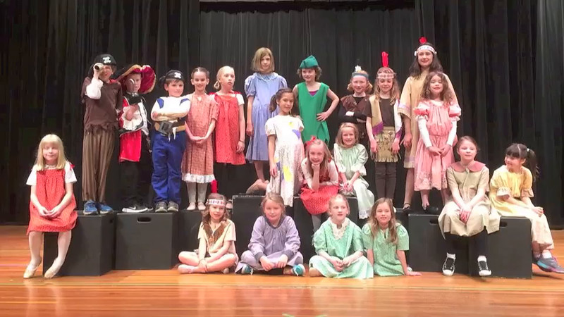 Adeline and her friend Molly were in this Peter Pan musical together (this is a very abbreviated video, showing only short highlights of the musical numbers).  The performance was on April 25, 2015 at Mellon Junior High in Mt. Lebanon.
