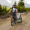 Crossing Tombstone Pass - not a bit of snow on the trail!  No longer have any faith in those trail reports.