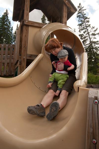 <b>10.5 months</b> Sliding with Mama