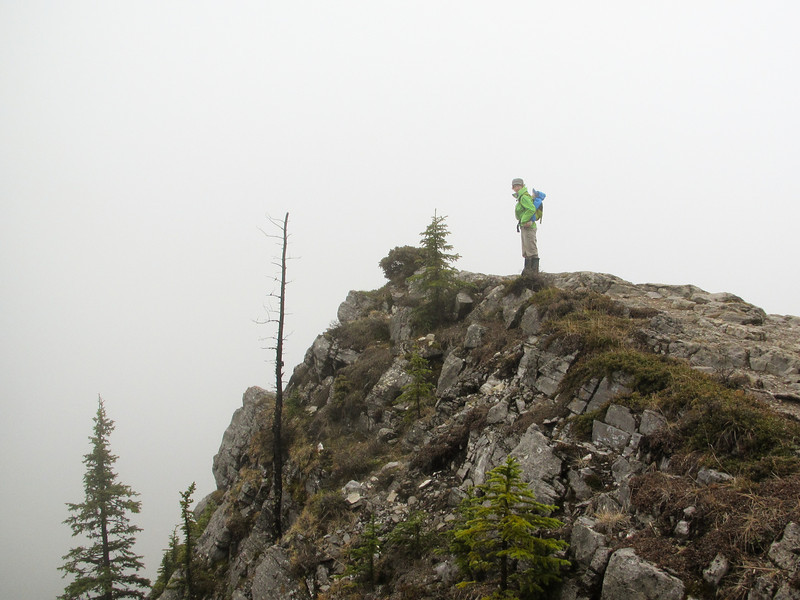 <b>24 May 2011</b> Barrier Mountain - on a lookout with very little view