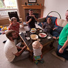 Fondue party!  Finn, Alex, Joel, Steve, Kristy and Brendan