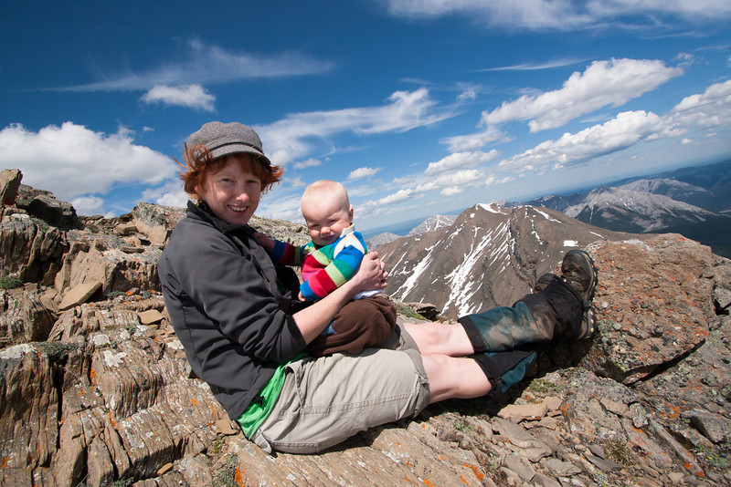 <b>22 June 2011</b> Megan and Finn by the summit of Mount Allan