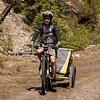 <b>12 June 2011</b> Red Earth Creek - Alex and Chariot, biking in the sun
