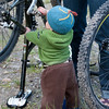 <b>23 July 2011</b> Finn turning the pedals