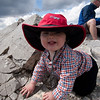 <b>6 August 2011</b> Mountain baby on Mount Indefatigable's southern summit.