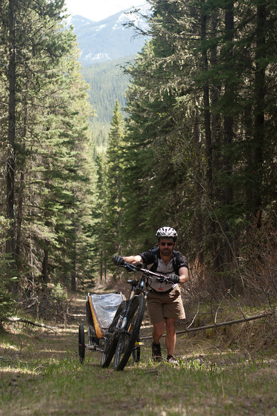 <b>5 June 2011</b> On the way back from Skogan Pass - It was much steeper than it looked. And it got steeper