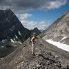 <b>29 July 2011</b> Fleeing the foul glacier, after its sharp rocks poked a hole in my leg.