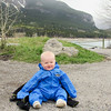 <b>24 May 2011</b> Barrier Mountain - Finn testing out his Oaki suit
